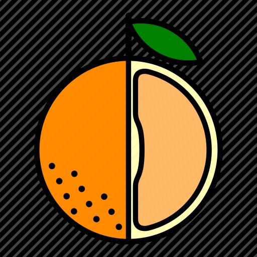 food, fruit, healthy, orange, orange slice, section icon