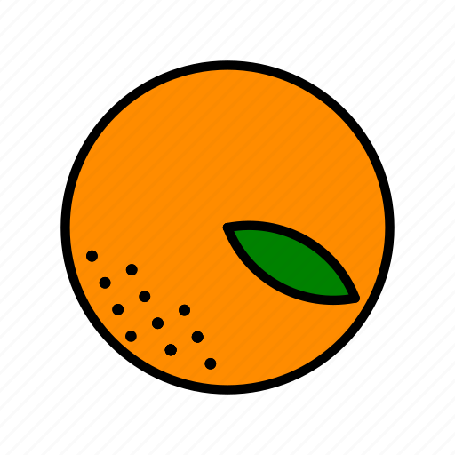 food, fruit, healthy, leaf, orange icon