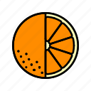 food, fruit, healthy, orange slice icon