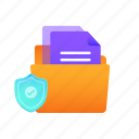 data, files, folder, network, password, protection, security icon