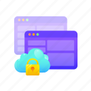 cloud, data, network, password, protection, security icon