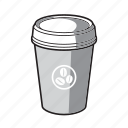 black and white, coffee, coffee cup, drink, to go icon
