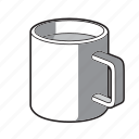 black and white, coffee, coffee mug, drink, hot chocolate, mug, tea icon