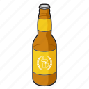 alcohol, beer, beer bottle, bottle, drink, glass bottle icon