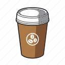 coffee, coffee cup, drink, hot chocolate, to go icon