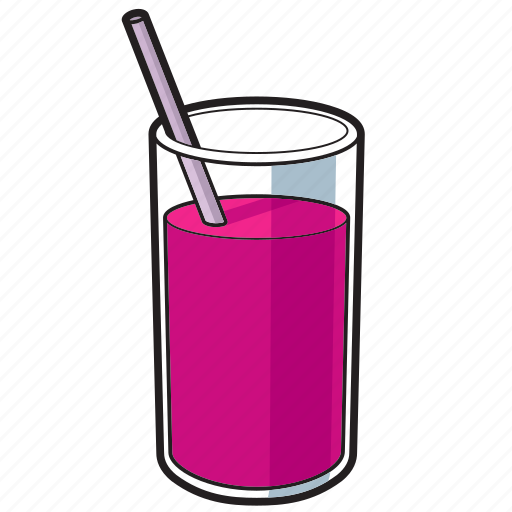 drink, fruit juice, glass, juice, straw icon