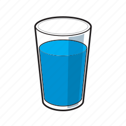 glass, glass of water, water, water glass icon