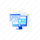 commerce, device, illustration, product, select icon