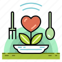eat healthy, food, healthy, meal, nutrition, organic, vegetable icon