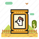 agriculture, animal, farm animal feeding, feed, livestock, poultry, ranch icon