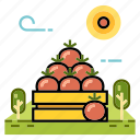 farm, food, fresh, fruit, fruit product, grocery, organic icon