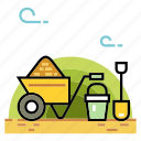 agriculture, equipment, farm, garden, gardening tools, shovel, tool icon