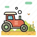 agriculture, crop, farm, harvest, harvester, machinery, tractor icon
