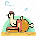 beef, chicken, dairy, food, meat, meat product, pork icon