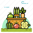 farm, grocery, healthy, nutrition, organic, organic vegetables, vegetable icon