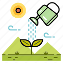 agriculture, cultivate, gardening, growth, plant, plant watering, watering icon