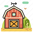 agriculture, barn, farm, field, fresh, harvest, ranch icon