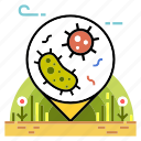 agriculture, bacteria, compost, microorganism, organic, soil, soil microorganism icon