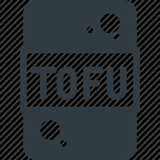 bio, diet, tofu, vegan icon