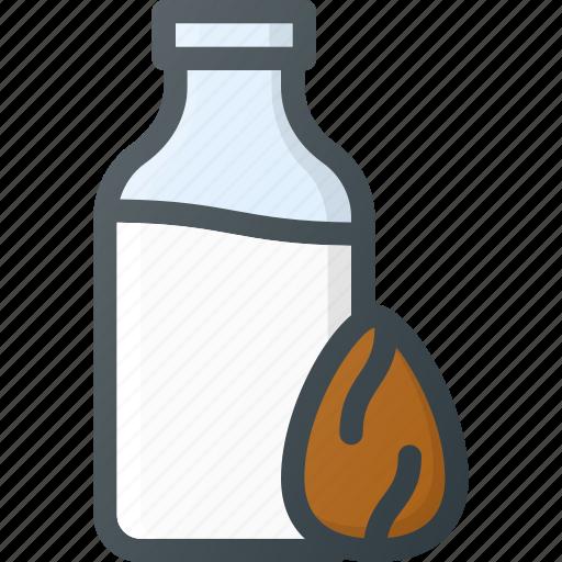 almond, drink, milk, organic icon