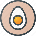 contains, egg, food, organic, sign icon