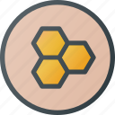 bio, contain, food, honey, organic, tile icon