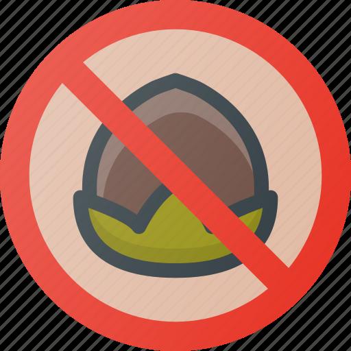 alergy, diet, food, free, nut icon