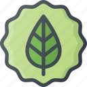 bio, eco, friendly, organic, sticker icon