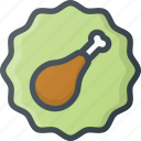food, meat, paleo, sticker icon