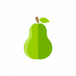 diet, food, fresh, fruits, organic, pear, vegan icon