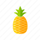 ananas, food, fresh, fruits, organic, pineapple, vegan icon