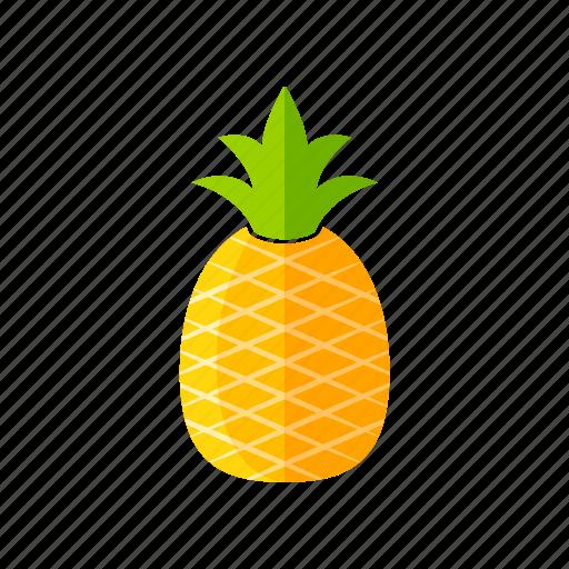 ananas, food, fresh, fruits, organic, pineapple, vegan icon