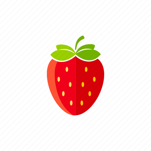 berries, food, fresh, fruits, organic, strawberry icon