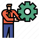 management, development, motivate, motivation, develop icon