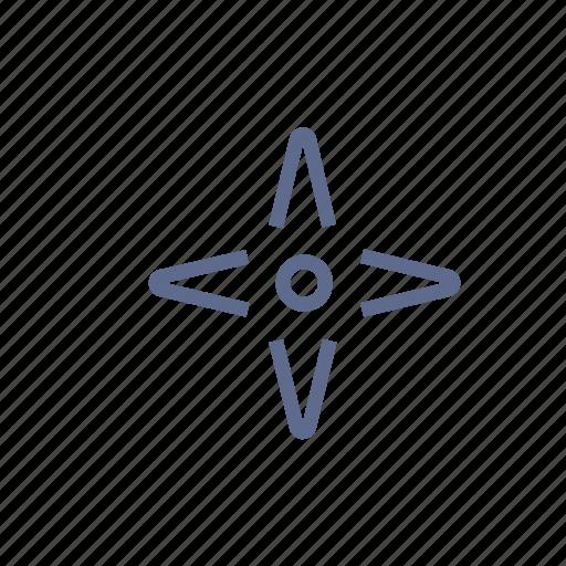 arrow, cockshot, cursor, mark, star, target icon