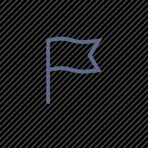 banner, destination, flag, point icon