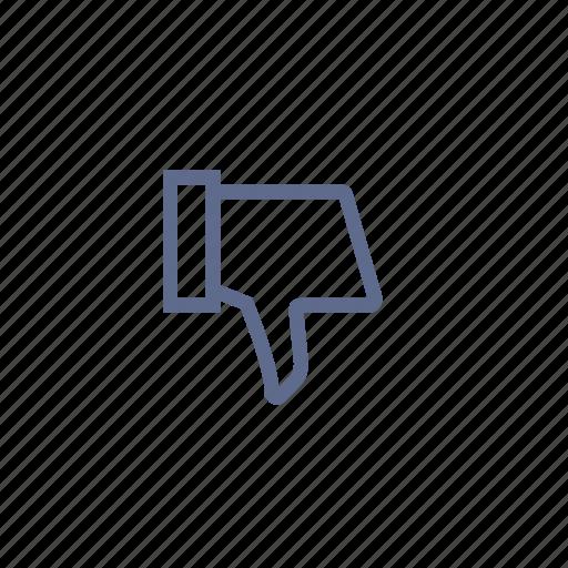 bad, dislike, down, low, negative, sucks icon