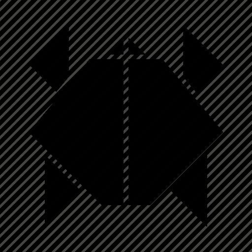 animal, fold, sea, shell, turtle icon