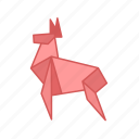 animal, antelopes, deer, origami, paper, paper folding, reindeer icon
