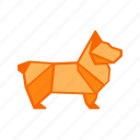 animal, dog, lion, origami, paper, paper folding, puppy icon
