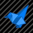 bird, dove, origami, paper, paper folding, peasion, pigeon icon