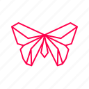 beautyful, bird, butterfly, creature, origami, paper, paper folding icon