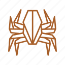 animal, insect, insects, origami, paper, paper folding, spider icon