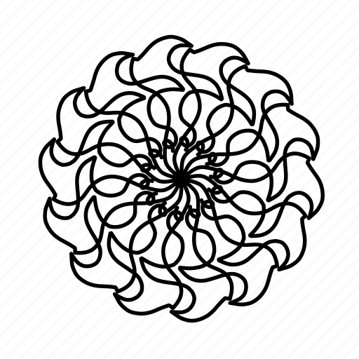floral, flower, mandala, mandalas, ornaments, pattern, swirls icon