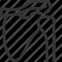 shoulder, scapula, humerus, orthopedics, bone, skeleton, human icon