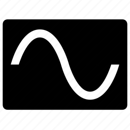 electronic, form, oscilloscope, screen, signal, sine, wave icon
