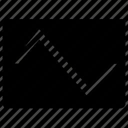 electronic, form, oscilloscope, screen, signal, triangular, wave icon