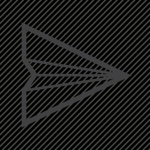 message, plane, sent icon