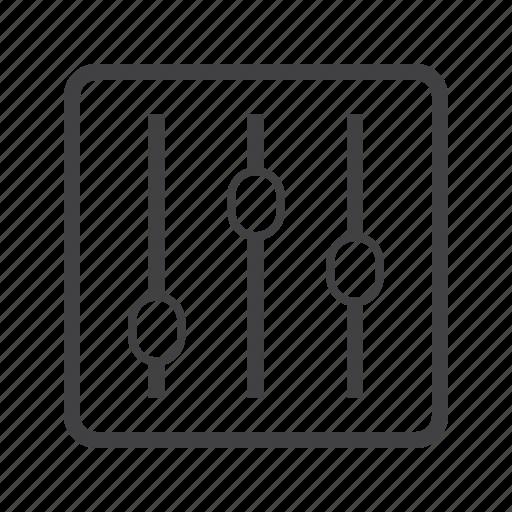 adjustment, control, filter, setting icon