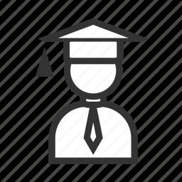 boy, entrepreneur, graduate, job, man, occupation, student icon